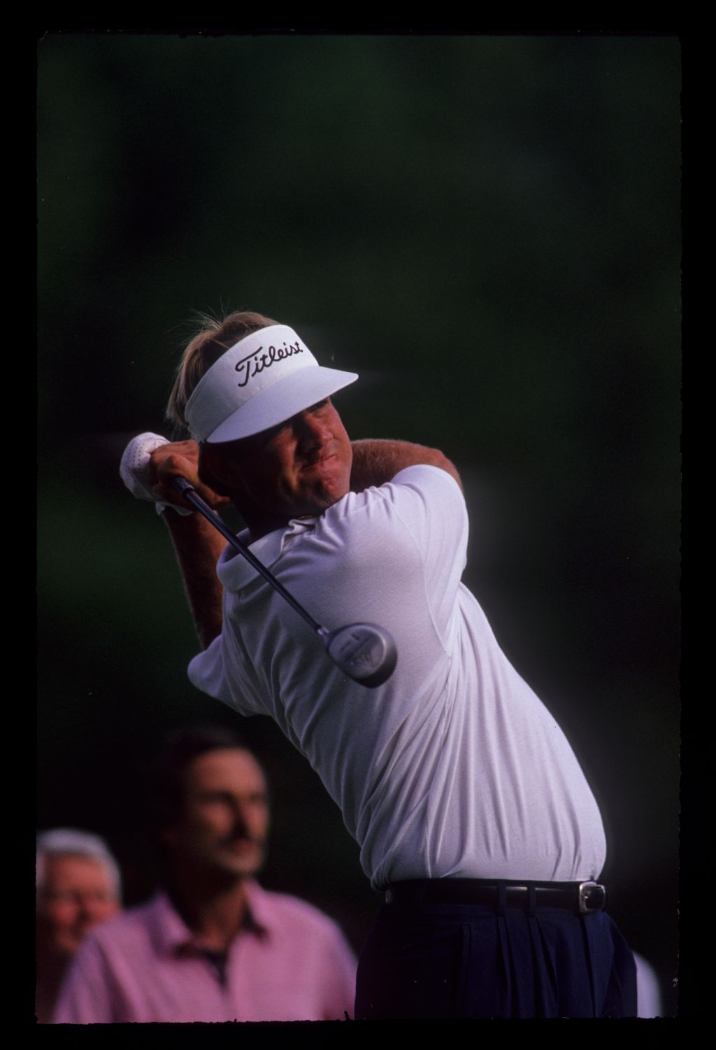 Steve Elkington following through on the tee during the 1991 Masters