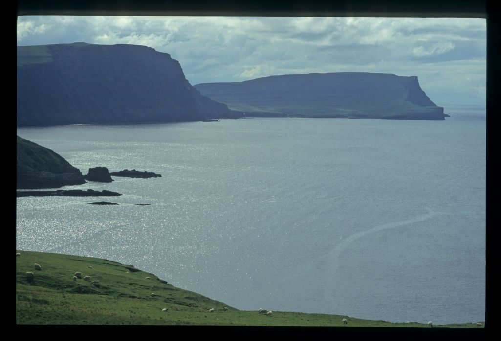 Moonen Bay with Ramasaig Cliff and The Hoe beyond, from Neist Point, Skye.