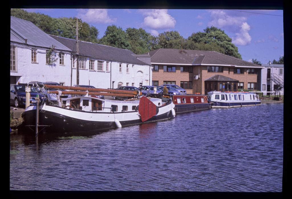 A Dutch barge at the Scottish Canals Headquarters, Hamiltonhill [Glasgow].