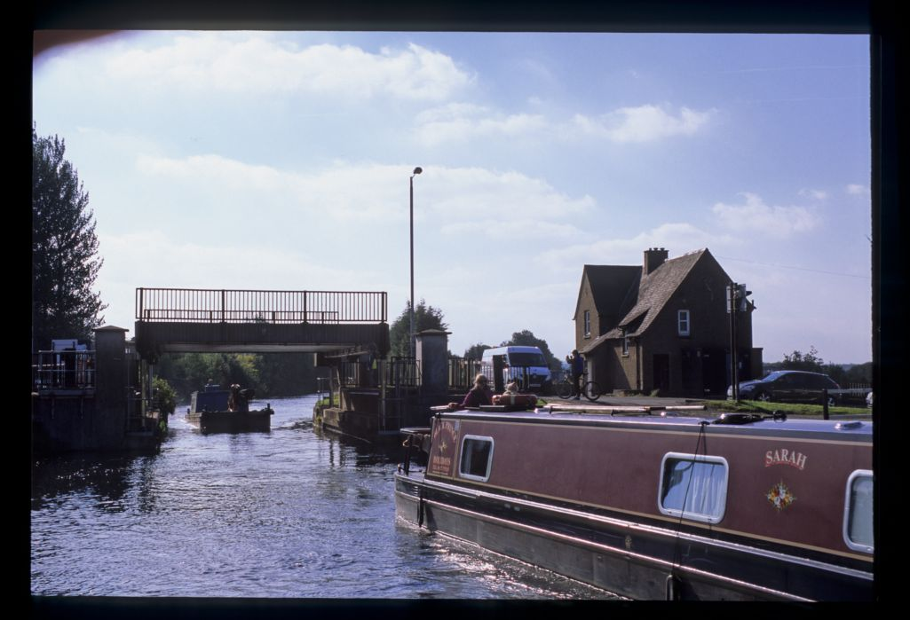 The Bonnybridge lifting bridge, Forth and Clyde Canal.