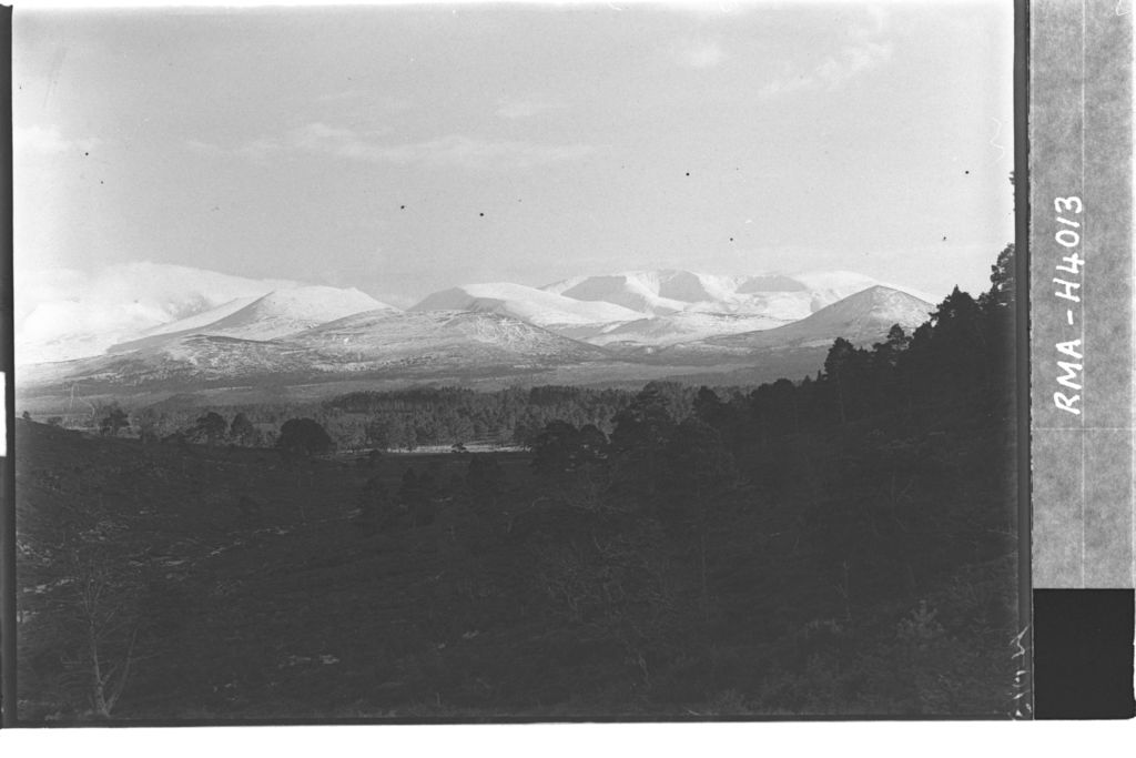 Cairngorms from Sluggan Pass.
