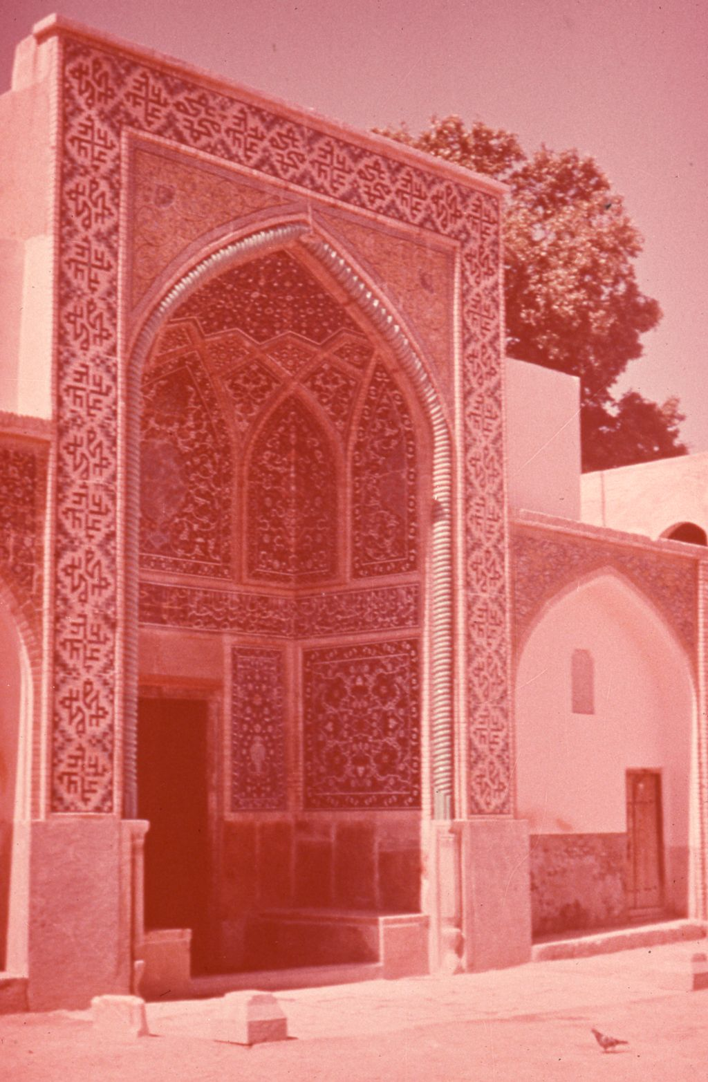 Unidentified iwan in Islamic courtyard