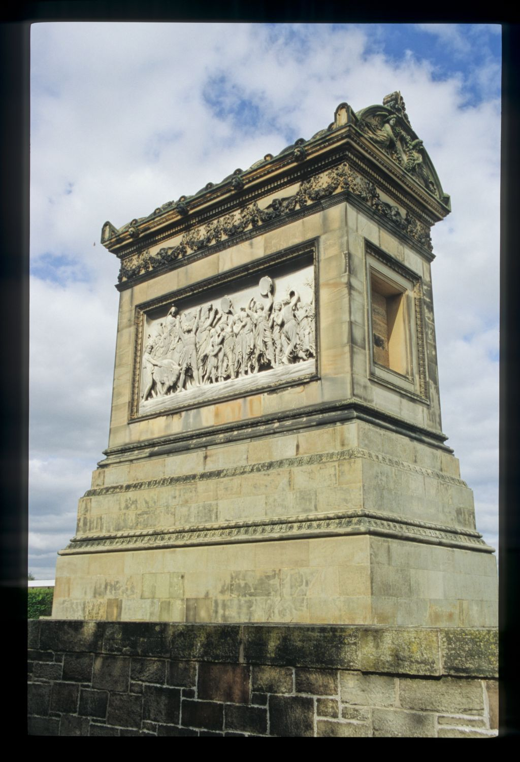 Craigentinny Marbles, Edinburgh. The colossal burial mausoleum of William H Miller (also known as Measure Miller)