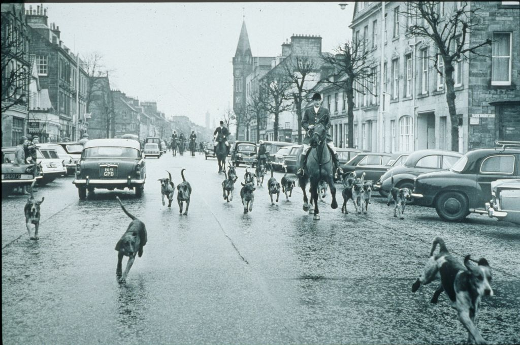 The Fife Fox Hounds Meet, South Street, St Andrews.