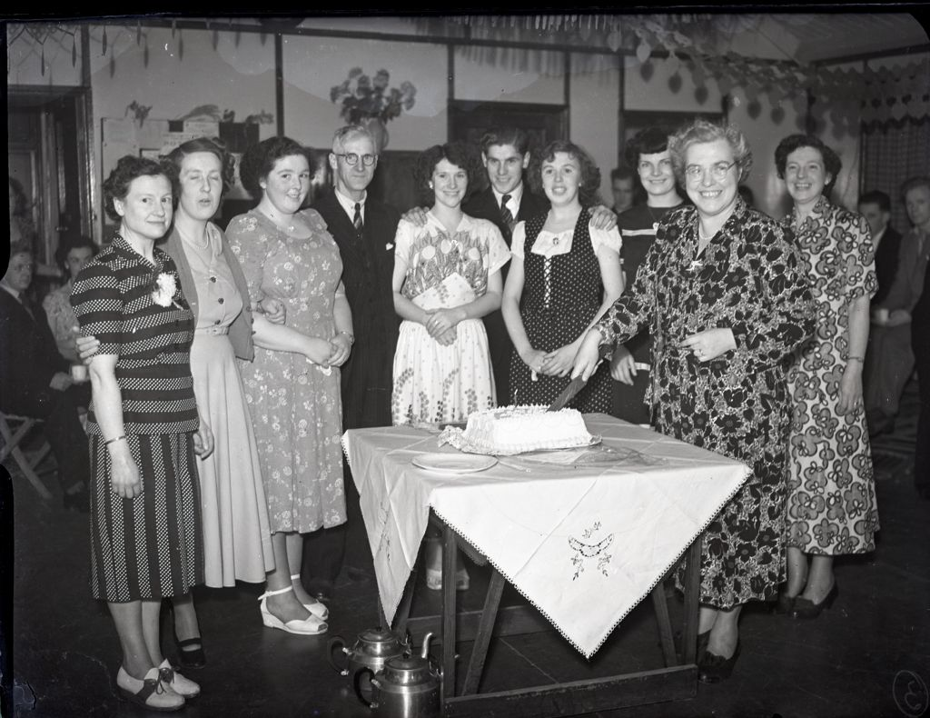 A Birthday party in the British Sugar Beet Corporation packing department [Cupar].