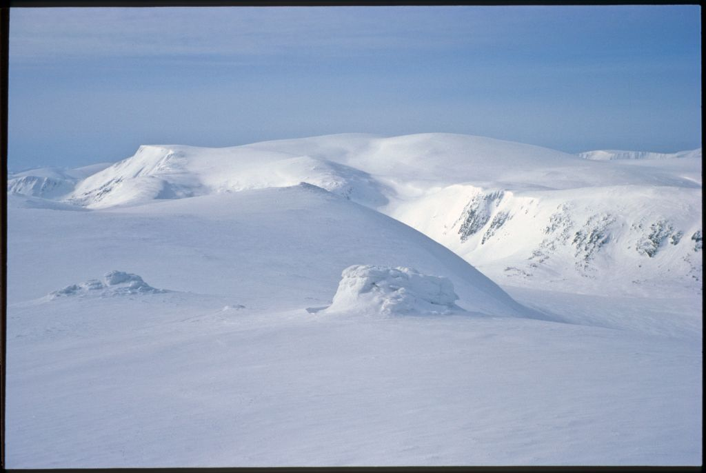 Cairngorm and its plateau across the Lairig Ghru from Braeriach.
