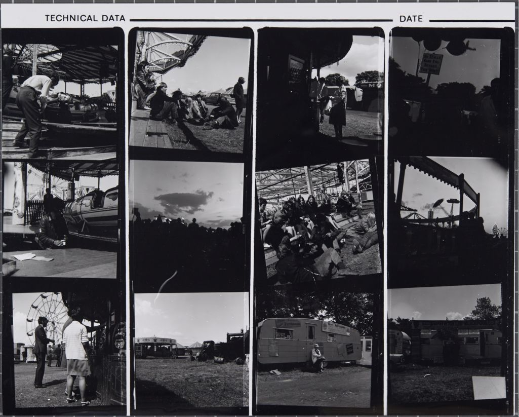 [Contact print from the Fairgrounds at Gosford Park, Newcastle]