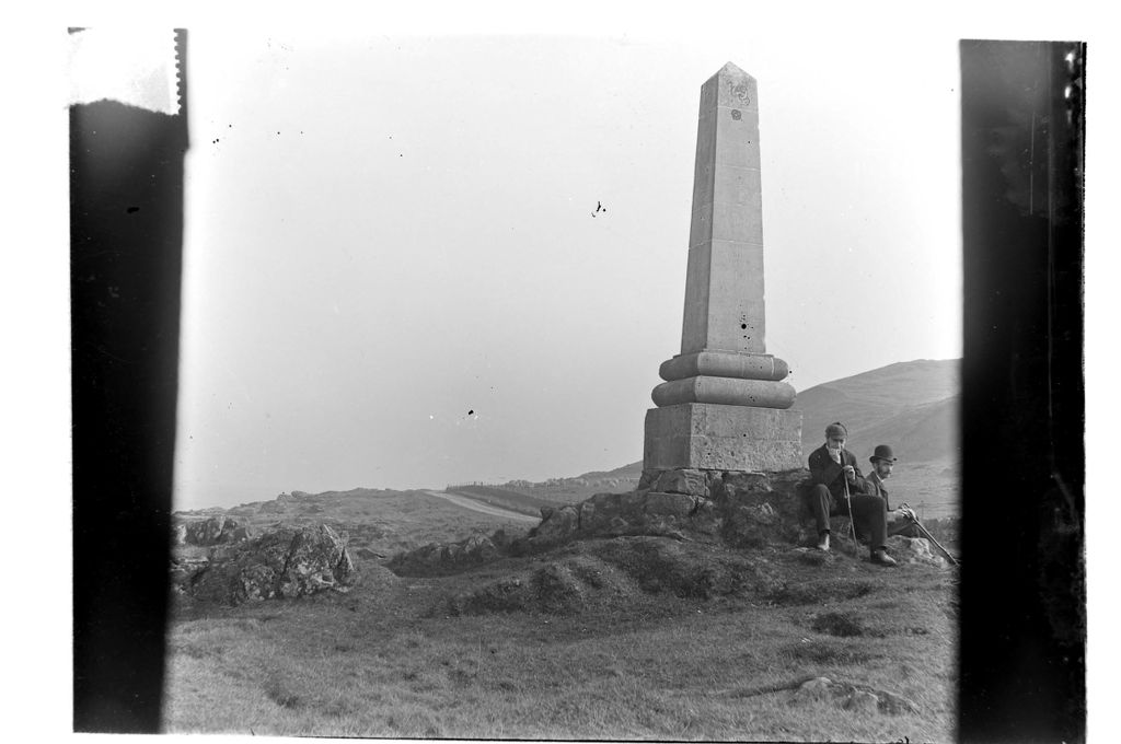 Wm G Miller and Harry C Miller at the Monument [Great Cumbrae].