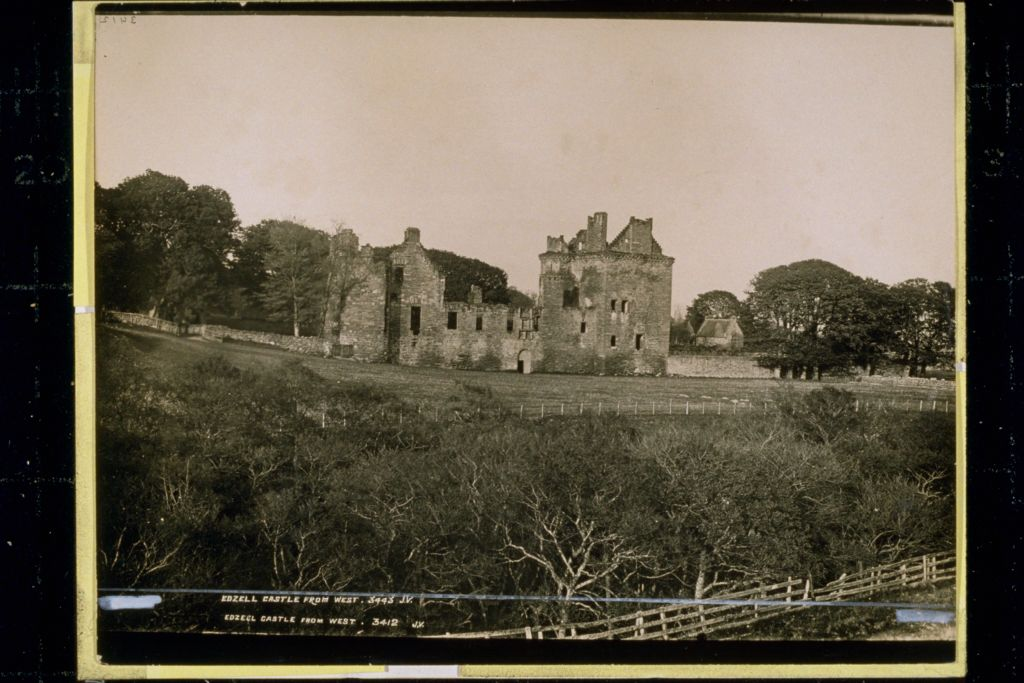Edzell Castle from West.