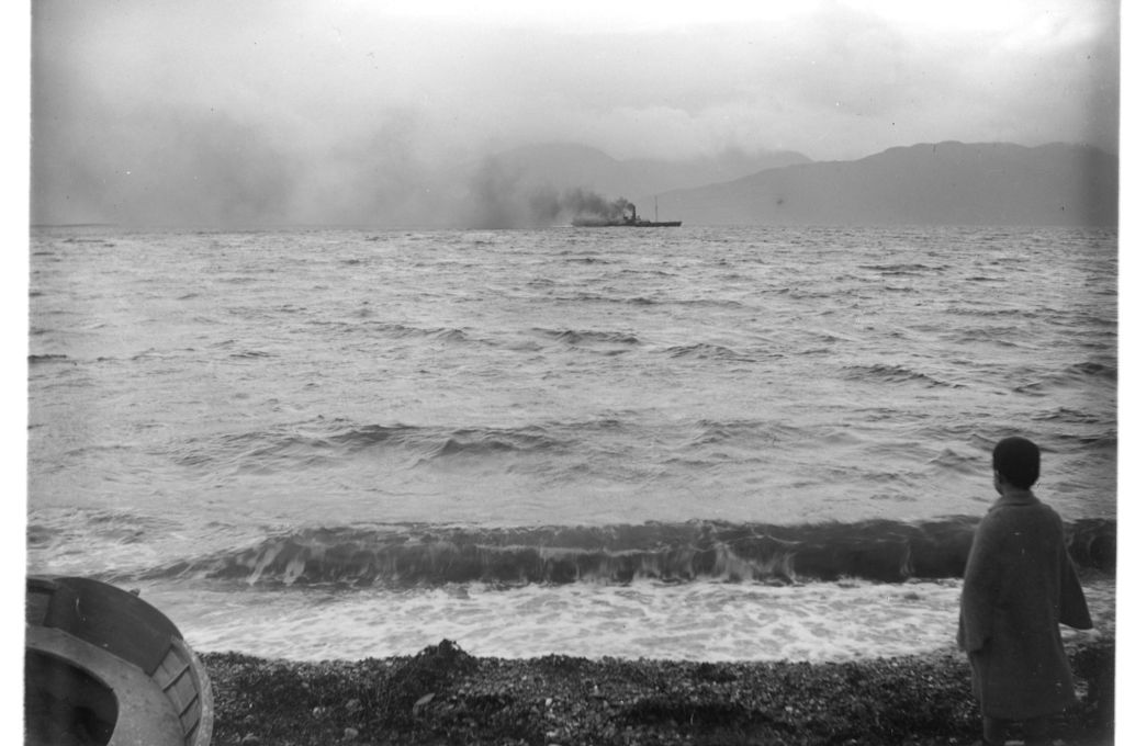 Fred Miller on the shores of Loch Linnhe with Morven in the distance.