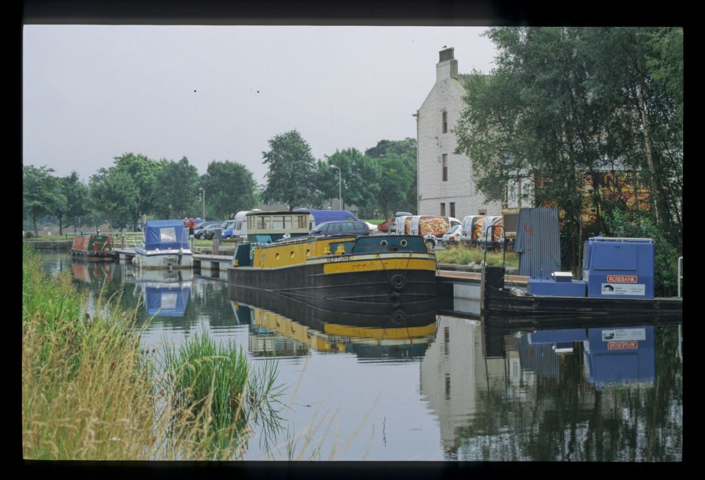 Boats beside the Union Inn on the Forth and Clyde Canal [Camelon, Falkirk].