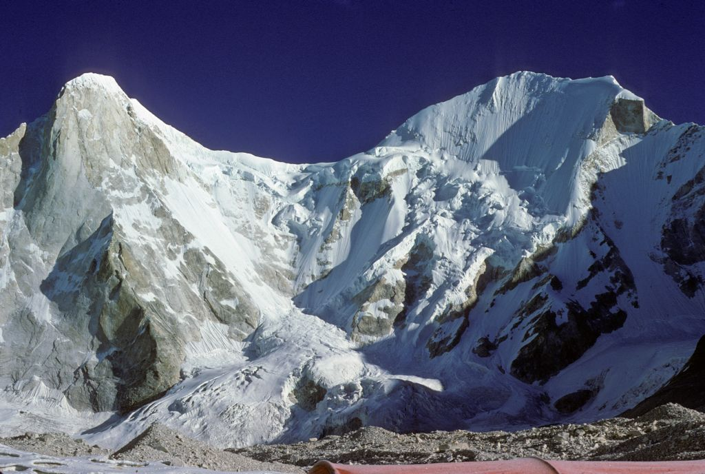 Changabang and Kalanka, two of the famous peaks of the Northern Sanctuary [Nanda Devi, India].