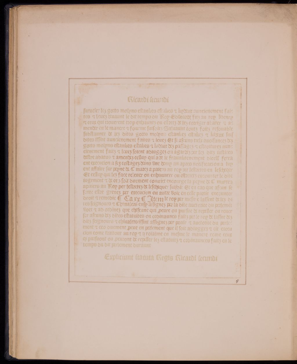 Facsimile of old Printed Page.