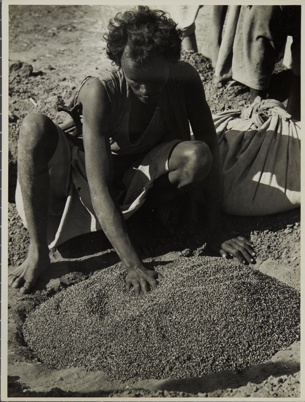 Storing grain in fills - Kassala Province, Sudan