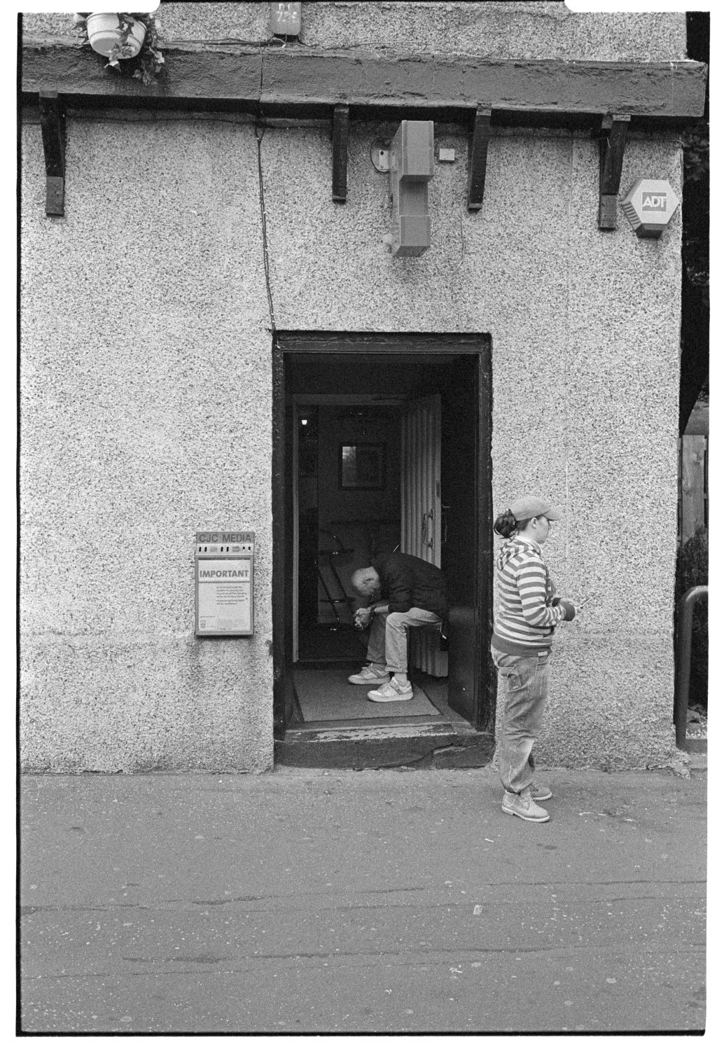[Man in Pub Doorway, East End, Glasgow]