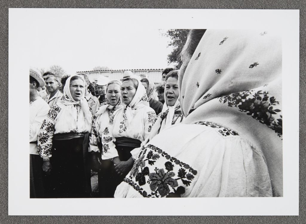 [Women in traditional clothing at a gathering, Soviet Union]