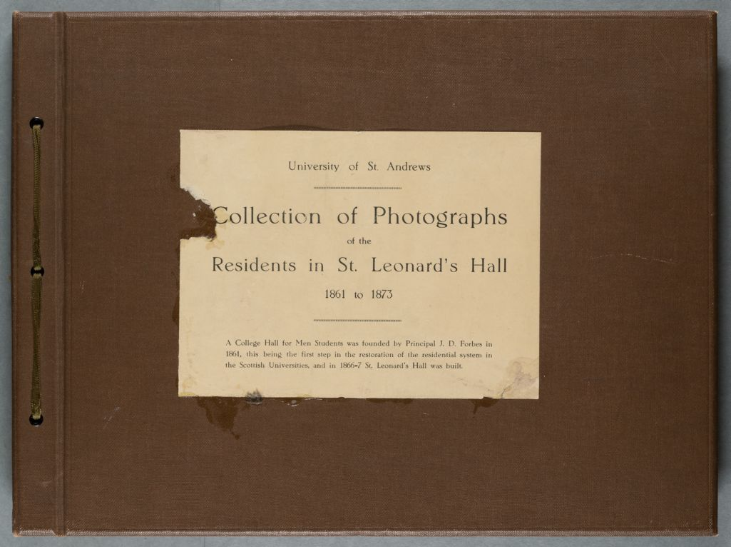 University of St Andrews, Collection of Photographs of the residents in St Leonards Hall 1861-1873
