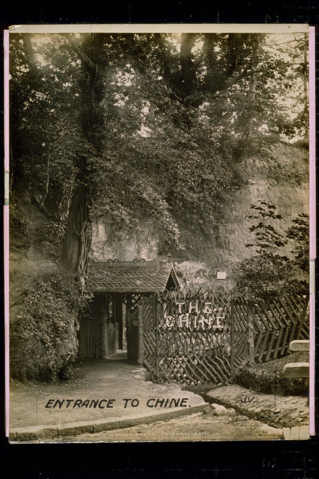 Entrance to Shanklin Chine, Isle of Wright.