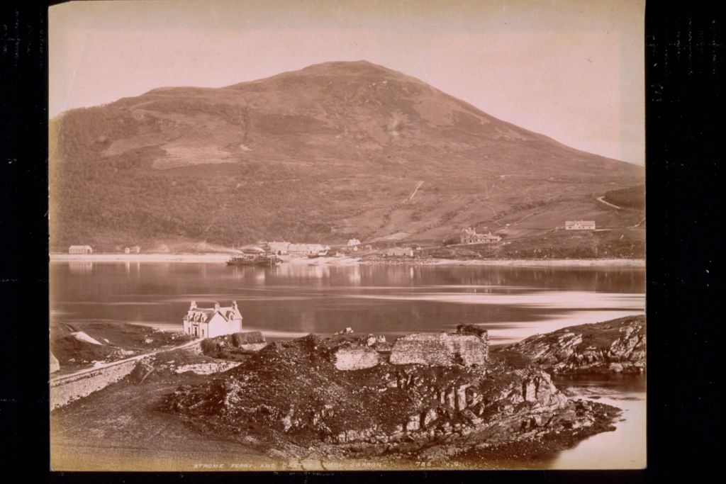 Strome Ferry and Castle, Loch Carron.