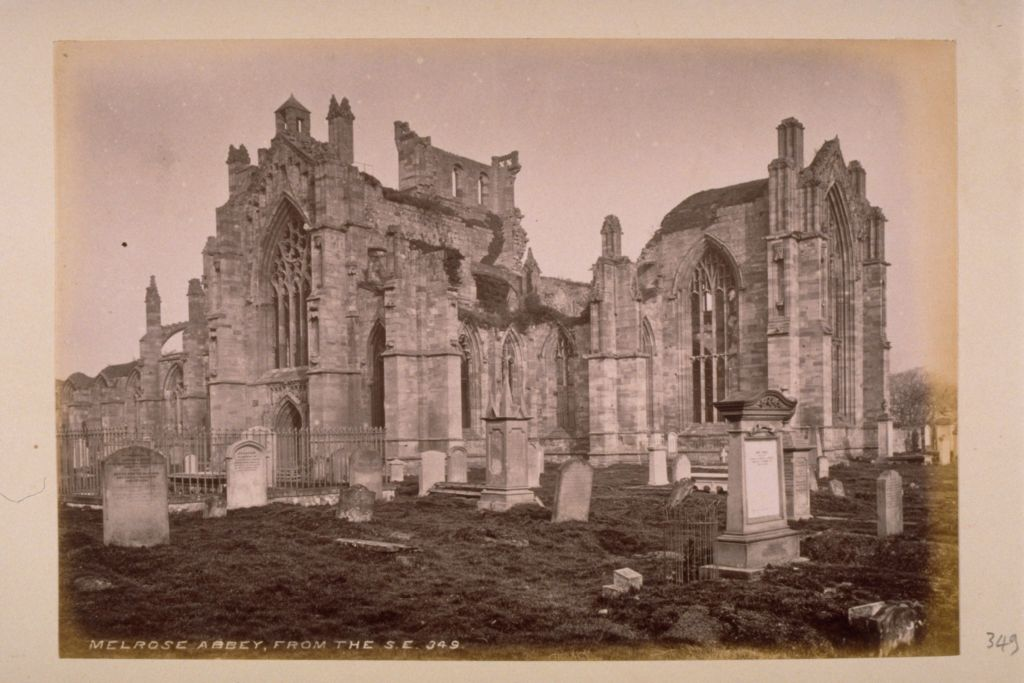 Melrose Abbey from the S E.