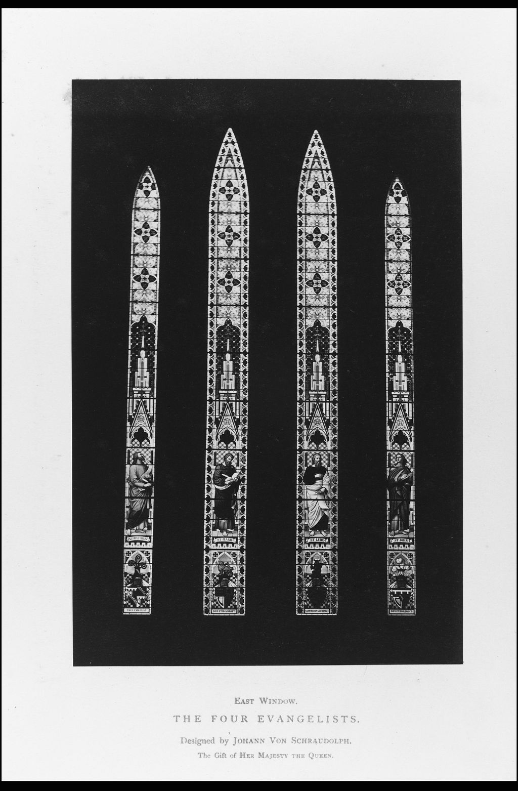 Glasgow Cathedral. The East Window, The Four Evangelists,