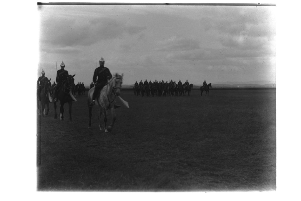 March past by the Squadrons [?of the Fife Light Horse] A leading [?St Andrews].