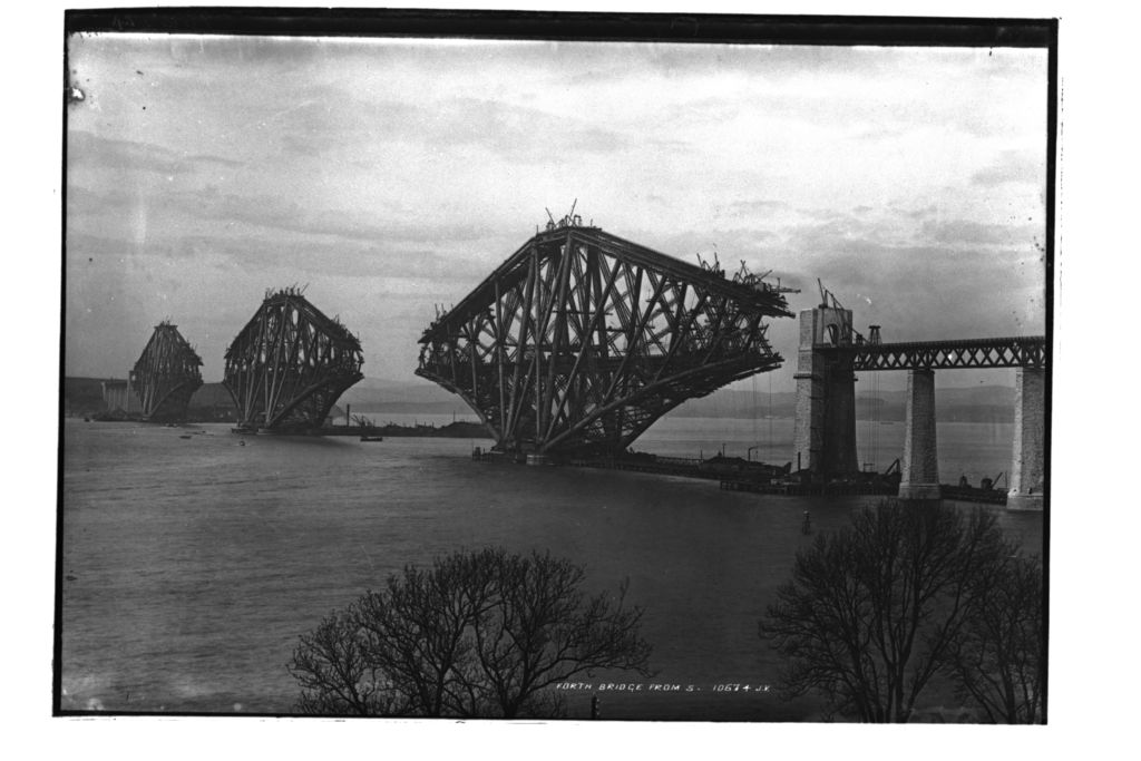 Forth Bridge from south.