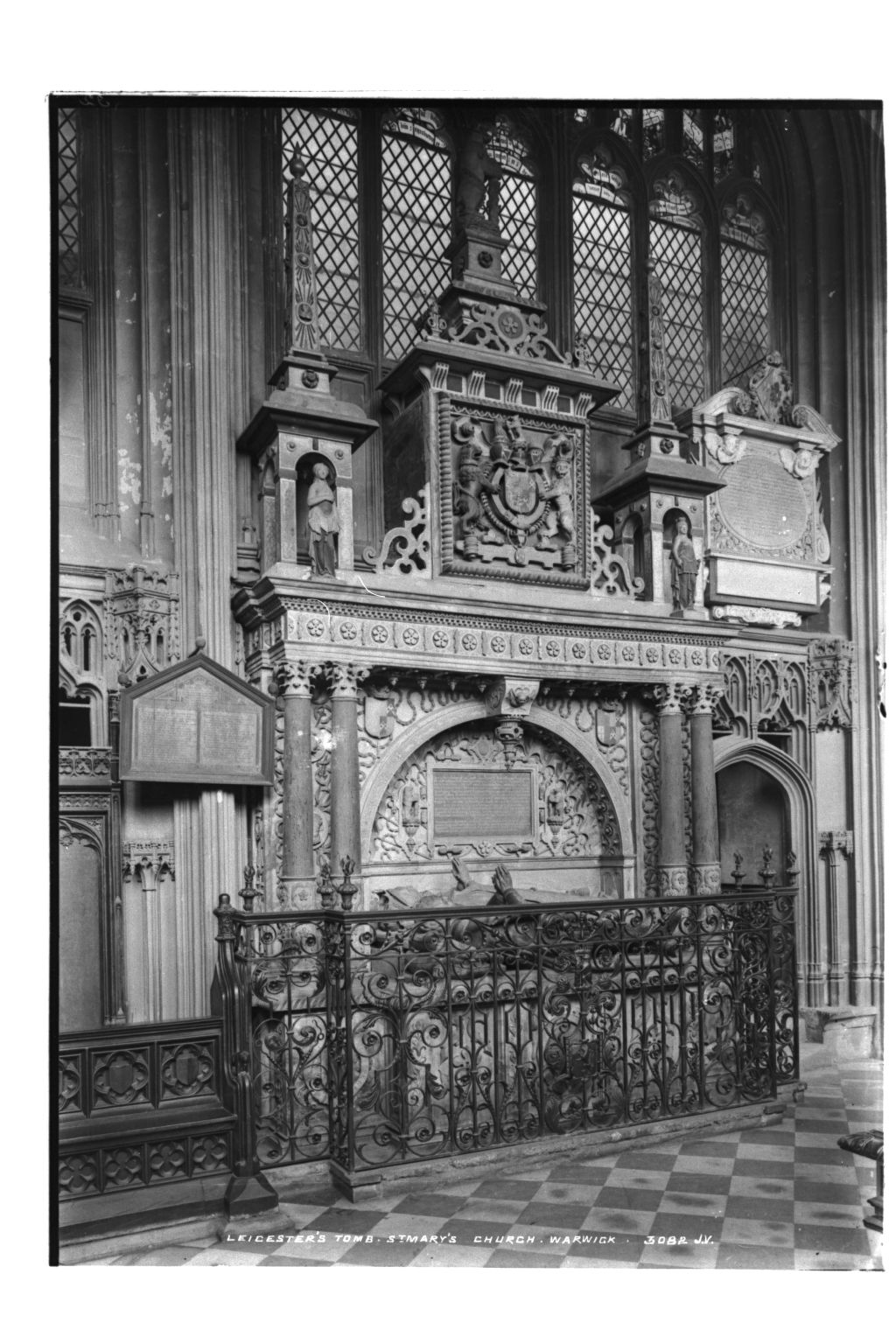 Leicester's Tomb, St Mary's.