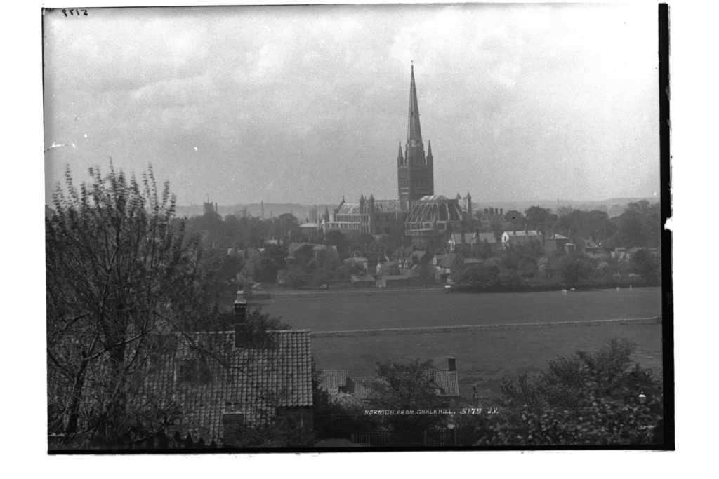 Norwich from Chalk Hill.