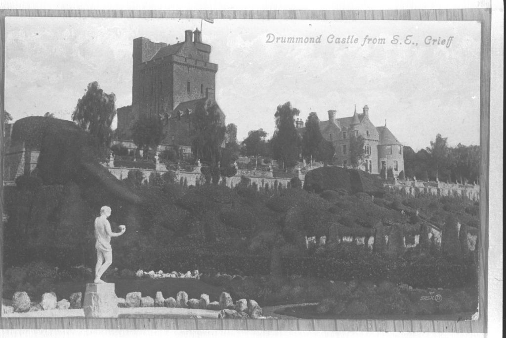 Drummond Castle from SE, Crieff.