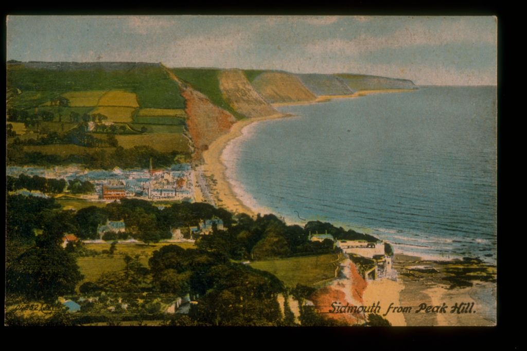 Sidmouth from Peak Hill.