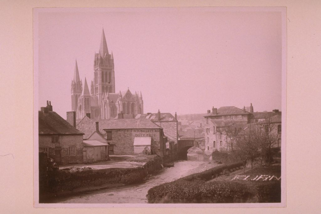 Truro [Cathedral] from harbour.