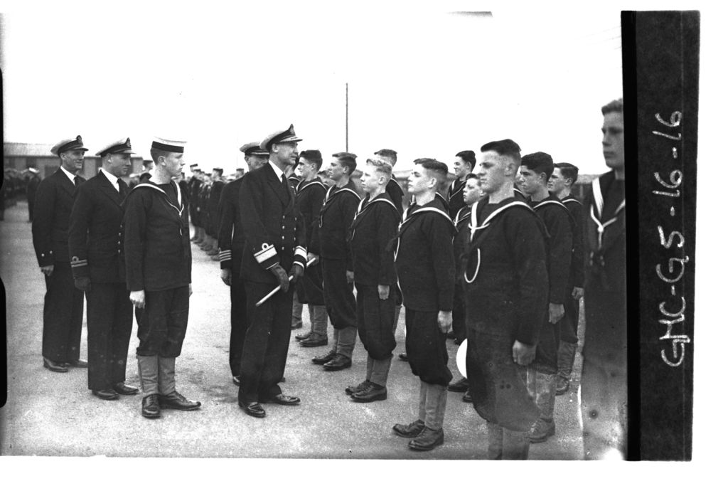 Naval Inspection at Crail [Aerodrome].