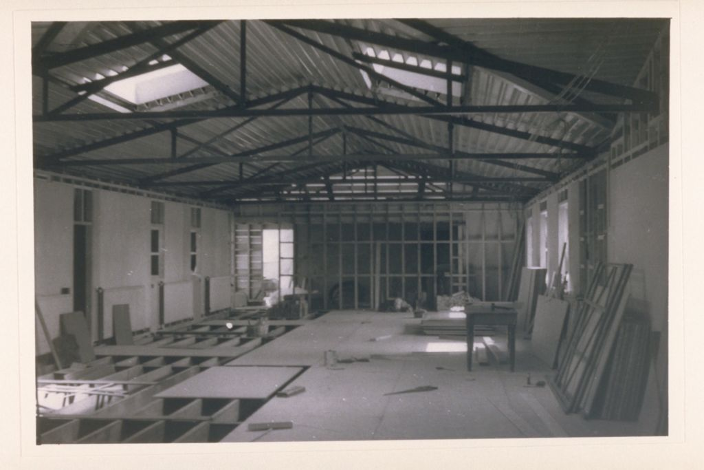 Interior work, the Carnegie Building roof extension.
