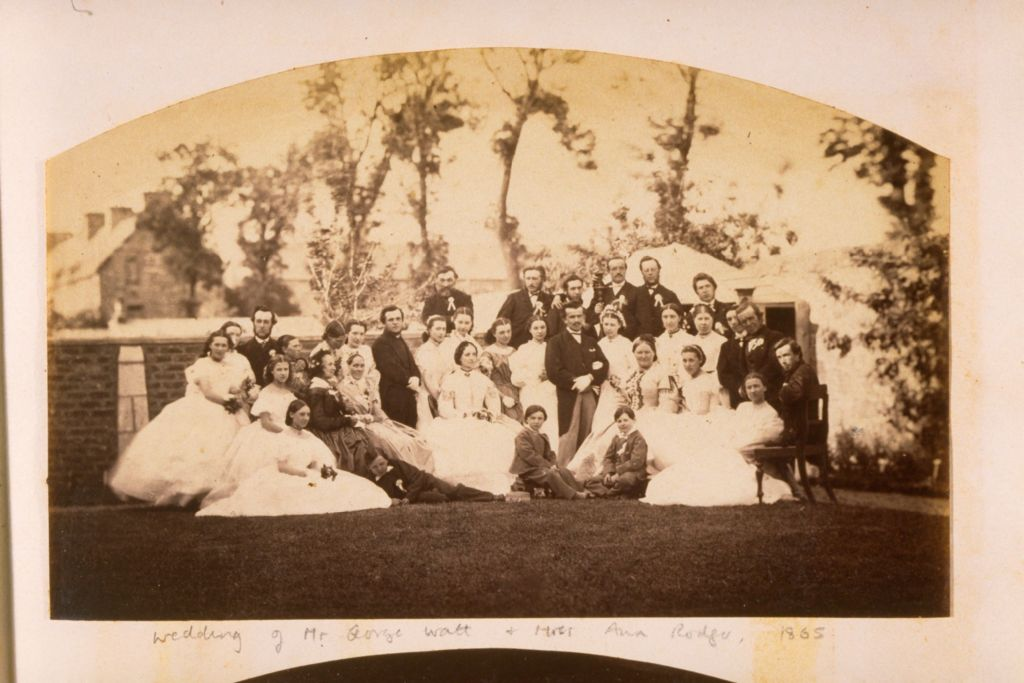 Wedding of George Watt and Miss Ann Rodger.