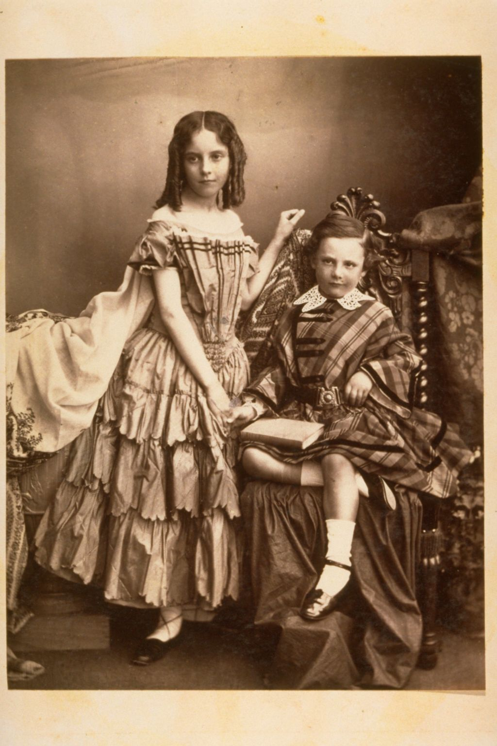 Two Children - Girl and a boy.
