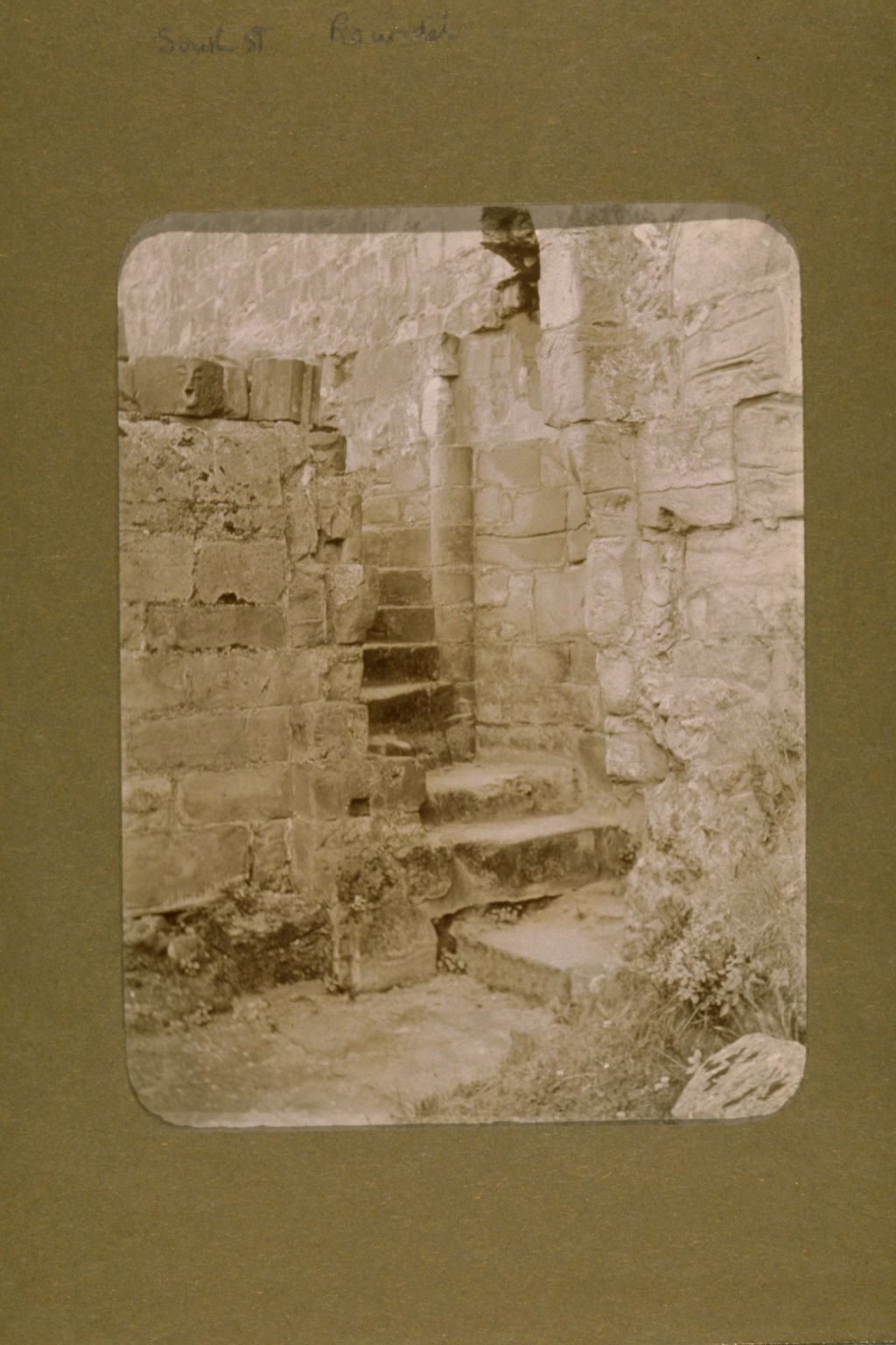 Ruined staircase.