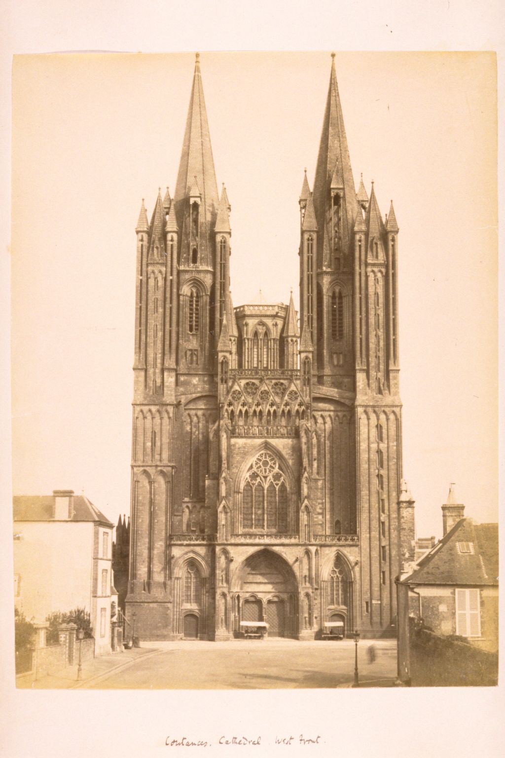 Coutances Cathedral, West Front.