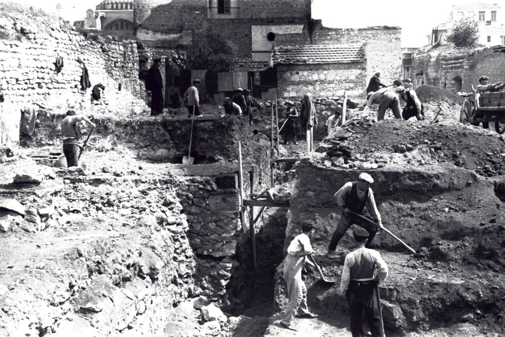 Excavations at the Great Palace, Istanbul.