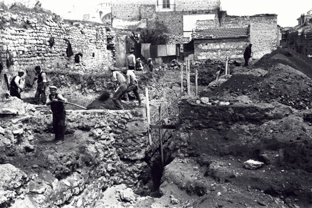 The Great Palace excavation, Sultanahmet, Istanbul (Constantinople).