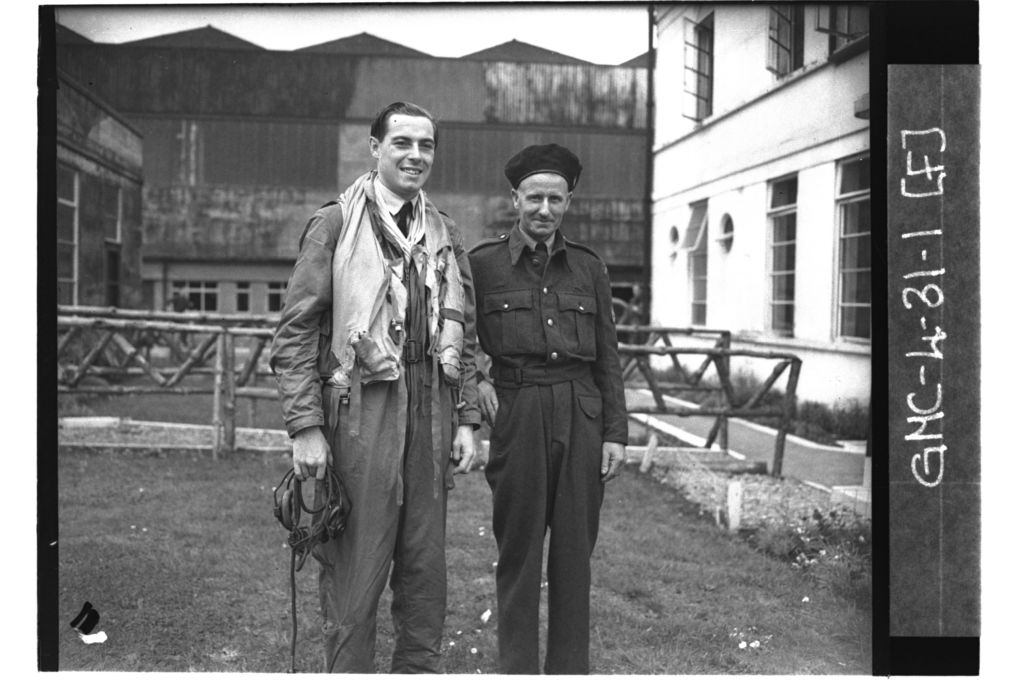Two ROC (Royal Observer Corps) observers at RAF Leuchars.