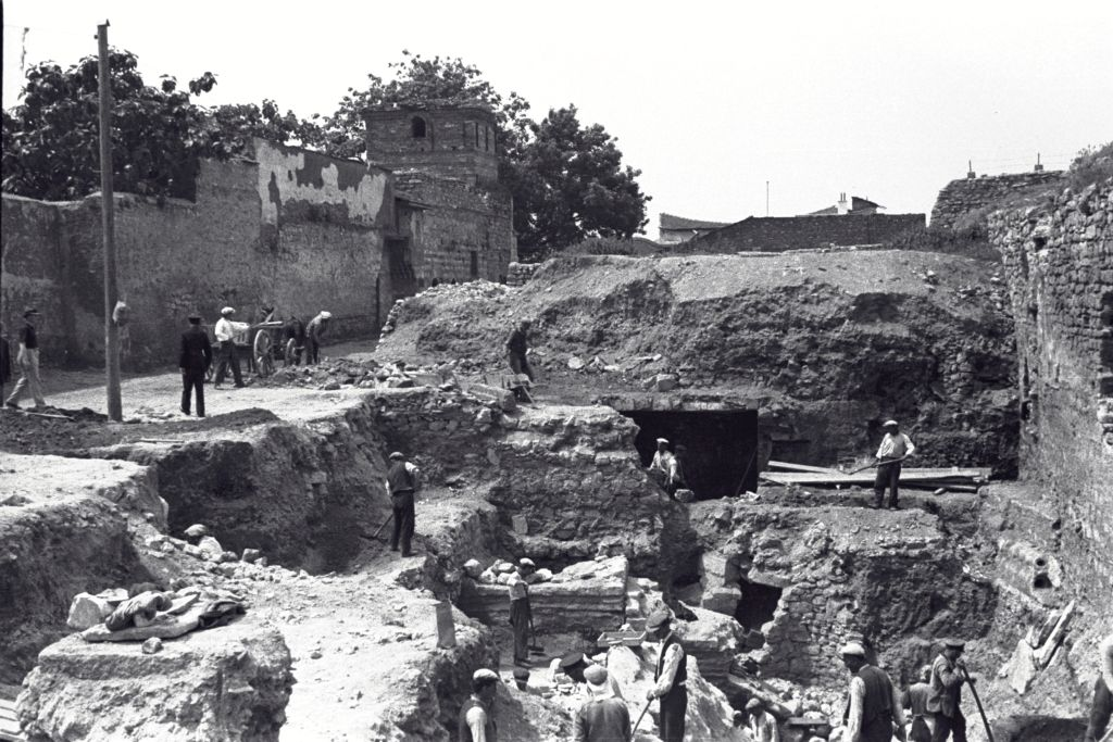 The excavations at the Great Palace, Istanbul (Constantinople).