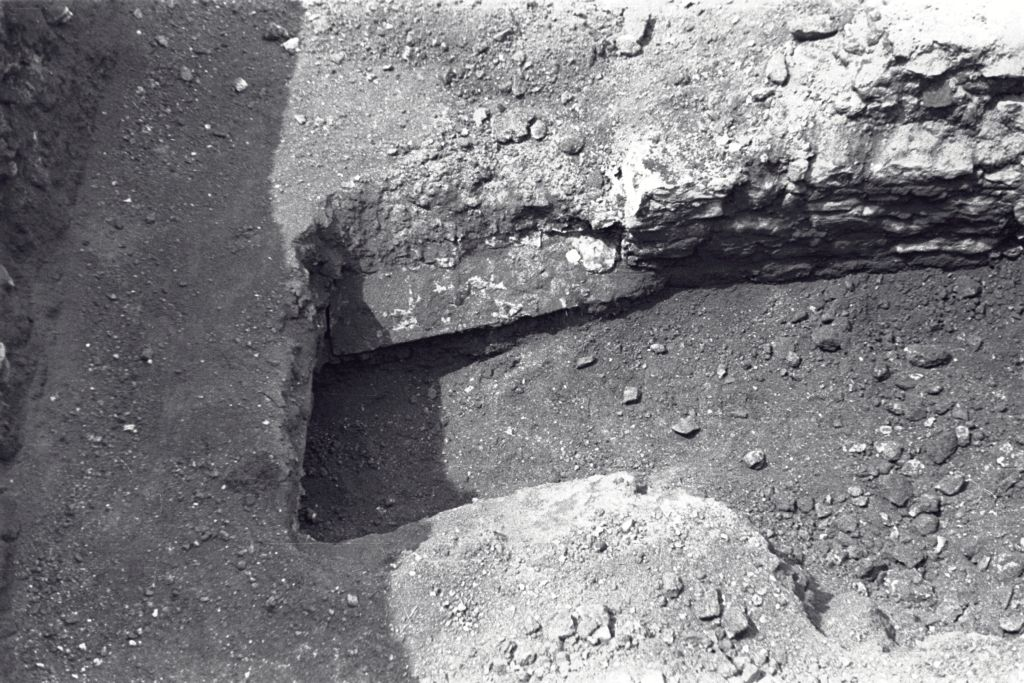 Excavation trench at the Great Palace, Istanbul (Constantinople).
