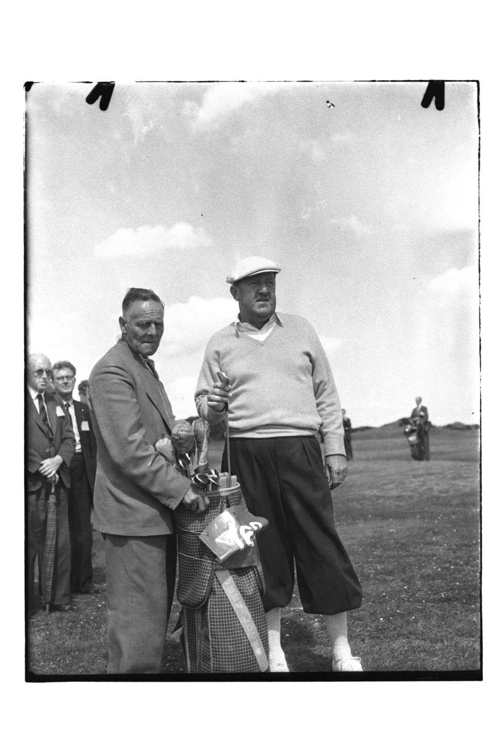 Bobby Locke playing in the final of the Open Championship, the Old Course, St Andrews.