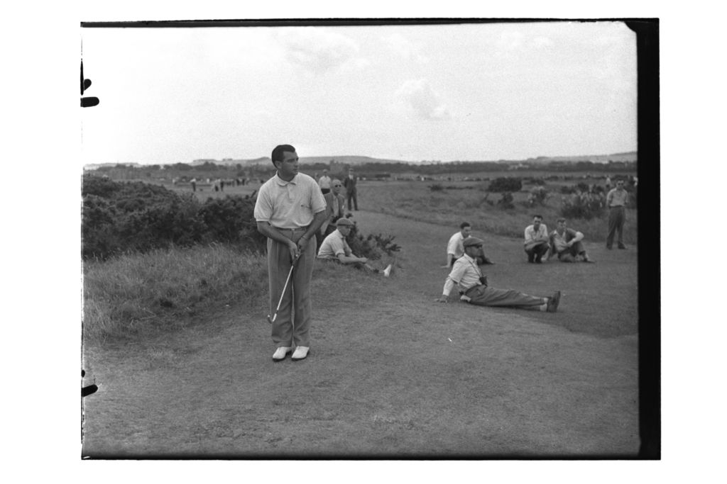Tony Cerda putting on the Old Course during the Open Championship, St Andrews.