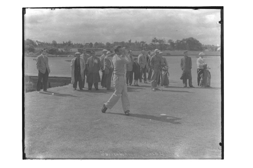 Harold Henning (South Africa) tees off on the Old Course, the Centenary Open Championship, St Andrews.