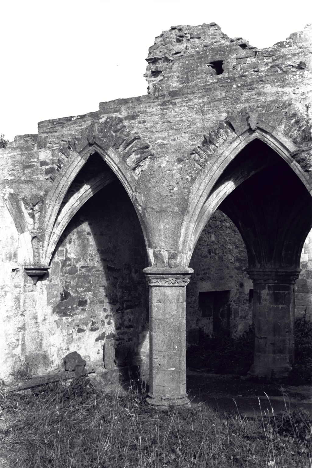 The roof arches of the Chapter House, Balmerino Abbey.