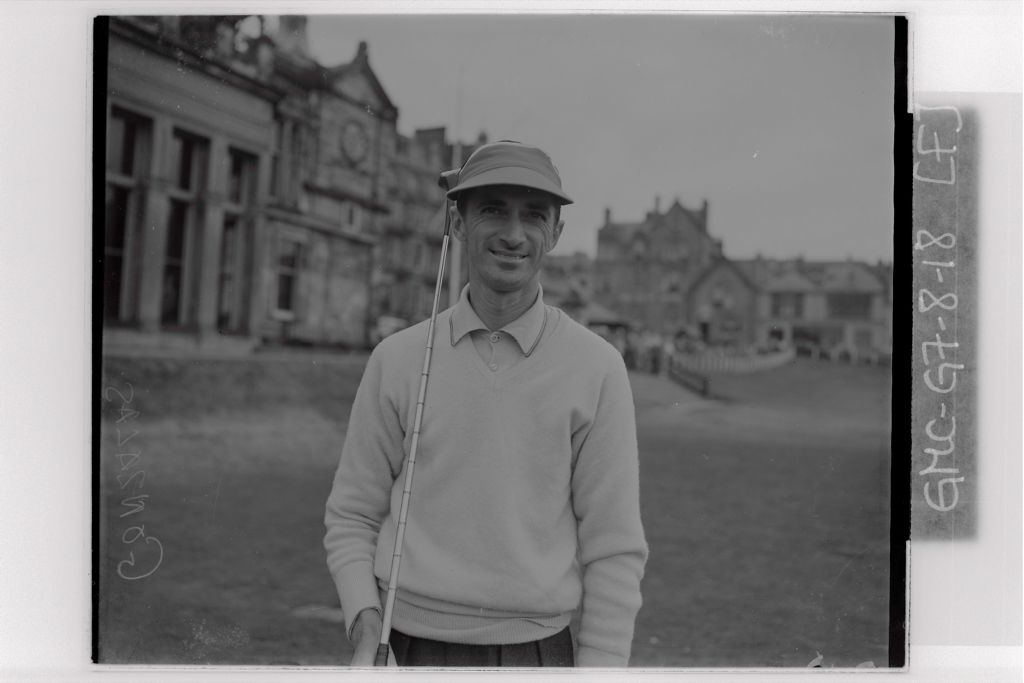Mario Gonzalez (Brazil) tees off at the 1st Tee of the Old Course, the Open Championship, St Andrews,