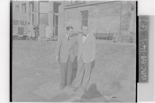 Francis Ouimet chats to a friend before playing in as the new R&A captain, St Andrews