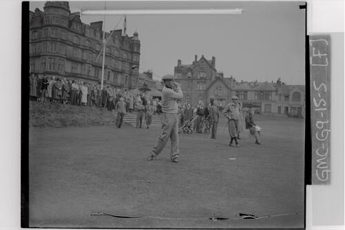 Francis Ouimet plays in as the new captain, on the first Tee of the Old Course, St Andrews.